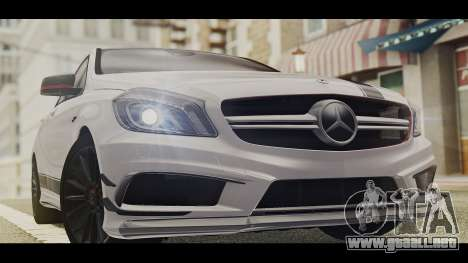 Mercedes-Benz A45 AMG Edition 1 para GTA San Andreas vista posterior izquierda