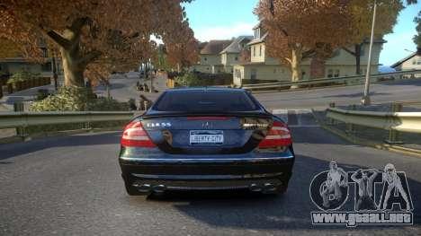 Mercedes CLK55 AMG Coupe 2003 para GTA 4 visión correcta