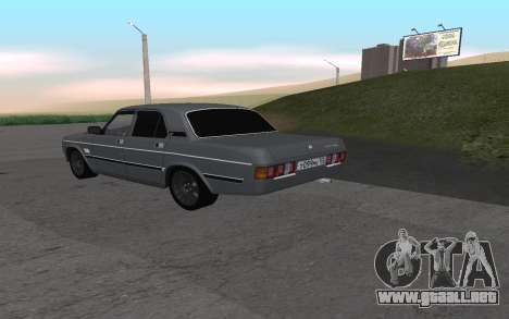 GAS de 31029 Volga para la visión correcta GTA San Andreas
