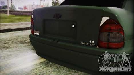 Chevrolet Corsa para GTA San Andreas vista hacia atrás