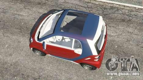 GTA 5 Smart ForTwo 2012 v0.1 vista trasera