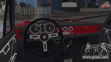 Alfa Romeo Spider Duetto 1966 para GTA San Andreas vista posterior izquierda