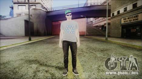 GTA Online Skin 45 para GTA San Andreas segunda pantalla