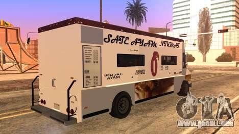 Sate Ayam (Chicken Satay) Van para GTA San Andreas left
