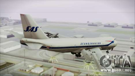 Boeing 747-283BM Scandinavian Airlines para GTA San Andreas left