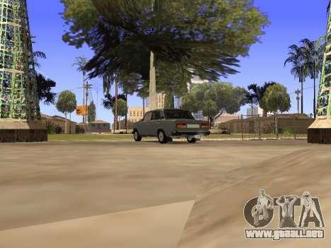 Principado VAZ 2107 San v0.3 para GTA San Andreas vista posterior izquierda
