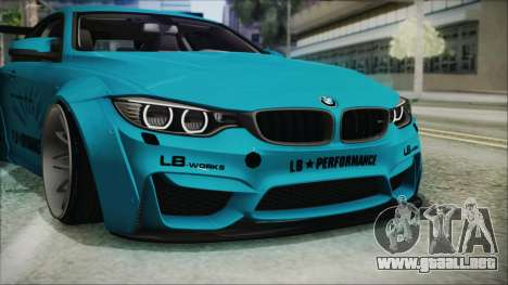 BMW M4 2014 Liberty Walk para la vista superior GTA San Andreas