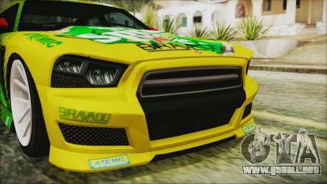 GTA 5 Bravado Buffalo Sprunk para GTA San Andreas vista hacia atrás
