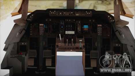Boeing 747-128B Air France para visión interna GTA San Andreas