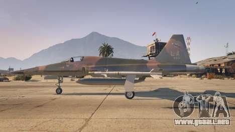 GTA 5 Northrop F-5E Tiger II USA segunda captura de pantalla