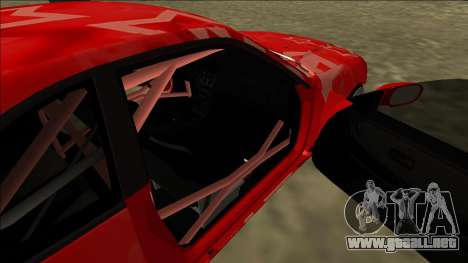 Nissan Skyline R33 Drift Red Star para vista inferior GTA San Andreas