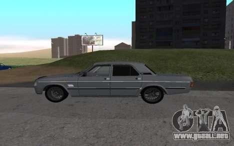 GAS de 31029 Volga para GTA San Andreas vista posterior izquierda