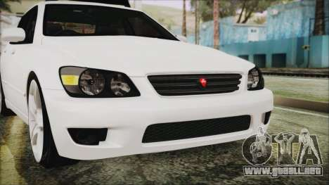 Toyota Altezza 2004 Full Tunable HQ para la vista superior GTA San Andreas