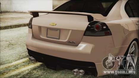 Chevrolet Lumina 2009 para GTA San Andreas vista hacia atrás