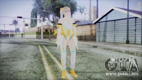 DoA5 LR Marie Rose Schoolgirl Striker Blonde para GTA San Andreas segunda pantalla