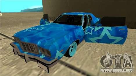 Ford Gran Torino Drift Blue Star para vista lateral GTA San Andreas