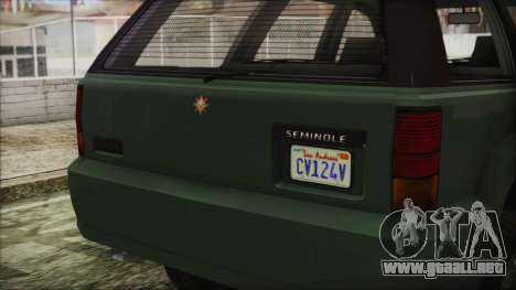 GTA 5 Canis Seminole para la visión correcta GTA San Andreas