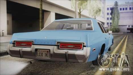 Dodge Monaco 1974 Civilian para GTA San Andreas left