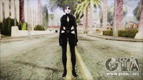 Black Hair Domino from Deadpool para GTA San Andreas segunda pantalla