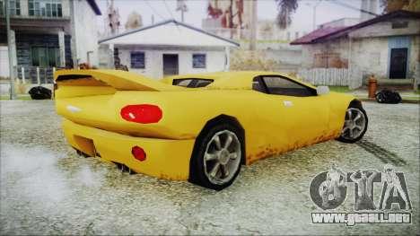 Gangsta Infernus para GTA San Andreas vista posterior izquierda