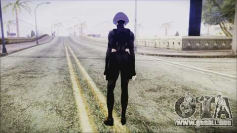Black Hair Domino from Deadpool para GTA San Andreas tercera pantalla