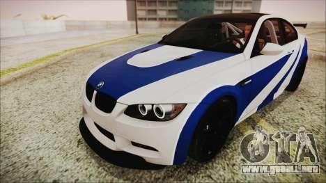 BMW M3 GTS 2011 IVF para vista inferior GTA San Andreas