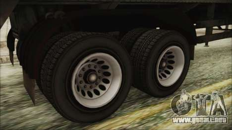 GTA 5 RON Tanker Trailer para GTA San Andreas vista posterior izquierda