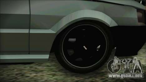 Fiat Uno Fire Tuning para GTA San Andreas vista posterior izquierda