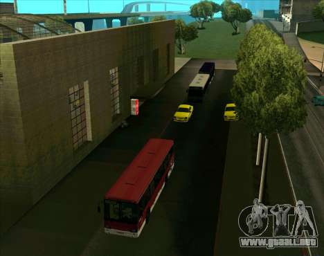 Los vehículos estacionados para GTA San Andreas sucesivamente de pantalla