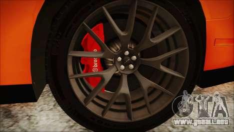 Dodge Challenger SRT 2015 Hellcat General Lee para la visión correcta GTA San Andreas