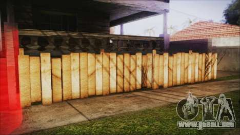 Wooden Fences HQ 1.2 para GTA San Andreas tercera pantalla