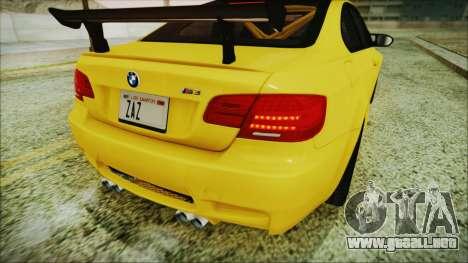 BMW M3 GTS 2011 IVF para la vista superior GTA San Andreas