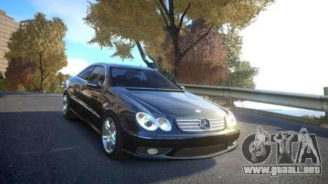 Mercedes CLK55 AMG Coupe 2003 para GTA 4 vista lateral