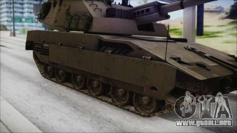 M4 Scorcher Self Propelled Artillery para GTA San Andreas vista posterior izquierda