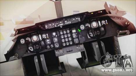 McDonnell-Douglas DC-10-30F World Airways para GTA San Andreas vista hacia atrás