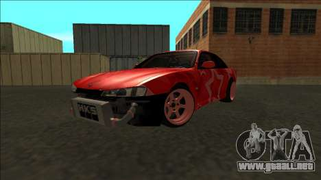 Nissan Silvia S14 Drift Red Star para vista lateral GTA San Andreas