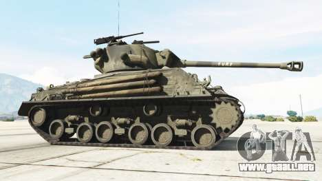 GTA 5 M4A3E8 Sherman Fury vista lateral trasera derecha