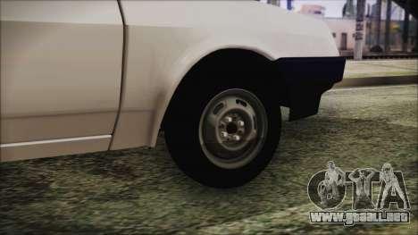 2109 Escorrentía para GTA San Andreas vista posterior izquierda