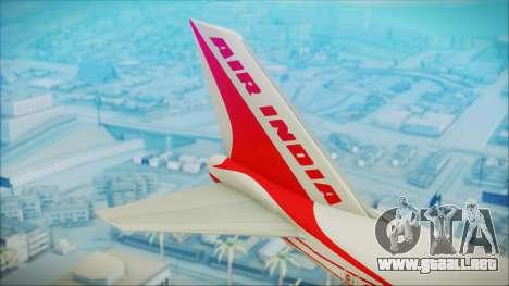 Boeing 747-237Bs Air India Himalaya para GTA San Andreas vista posterior izquierda