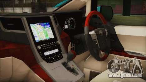 Toyota Alphard Hatsune Miku para la visión correcta GTA San Andreas