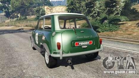 GTA 5 Mini Cooper S 1965 vista lateral izquierda trasera