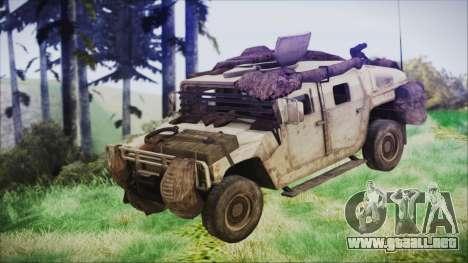 Humvee from Spec Ops The Line para la visión correcta GTA San Andreas