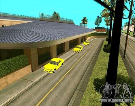 Los vehículos estacionados para GTA San Andreas segunda pantalla