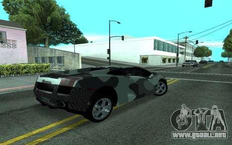 Lamborghini Gallardo Tunable para visión interna GTA San Andreas