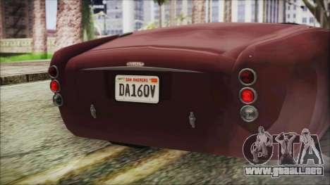 GTA 5 Declasse Mamba IVF para visión interna GTA San Andreas
