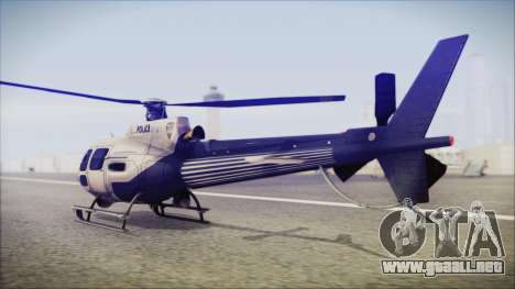 Batman Arkham Knight Police-Swat Helicopter para GTA San Andreas left