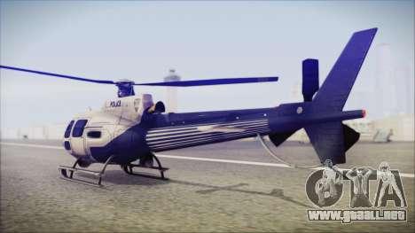 Batman Arkham Knight Police-Swat Helicopter para GTA San Andreas left