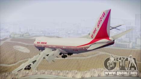 Boeing 747-237Bs Air India Mahendra Verman para GTA San Andreas left