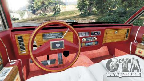 GTA 5 Cadillac Fleetwood 1985 Limousine [Beta] vista lateral trasera derecha
