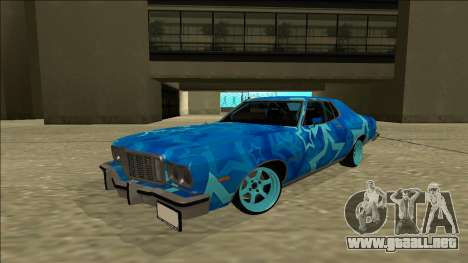 Ford Gran Torino Drift Blue Star para GTA San Andreas vista posterior izquierda